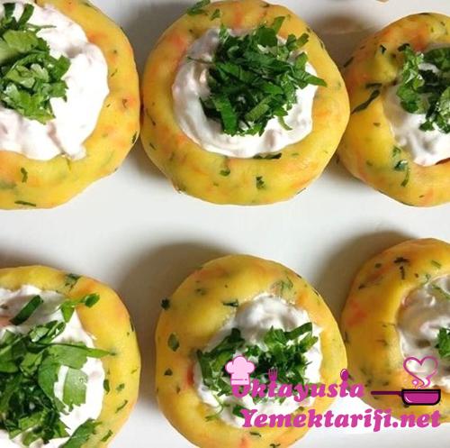 yogurtlu patates canaklari