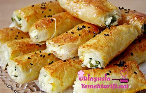 baklava yufkasi ile peynirli borek